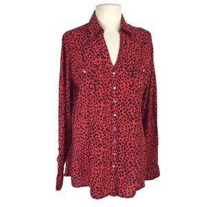 Rock 47 Wrangler XL Cheetah Print Western Shirt